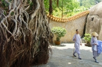 Xiamen, mnisi w świątyni