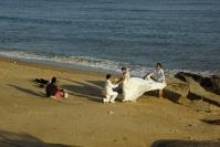 Xiamen, sesja zdjęciowa na plaży
