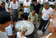 Xiamen, mężczyźni gracy w parku