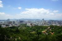 Xiamen, widok z ogrodu botanicznego