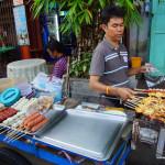 Uliczne jedzenie w Bangkoku