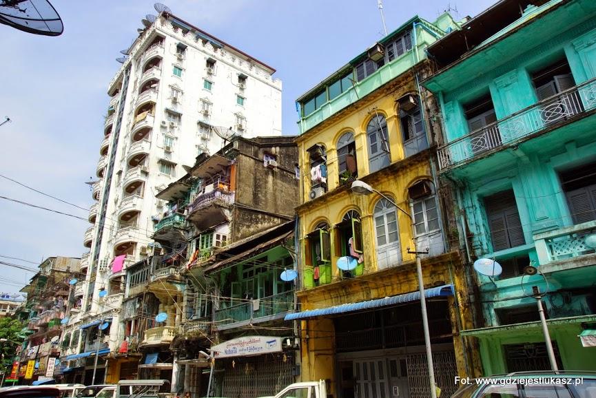 Budynki Rangun