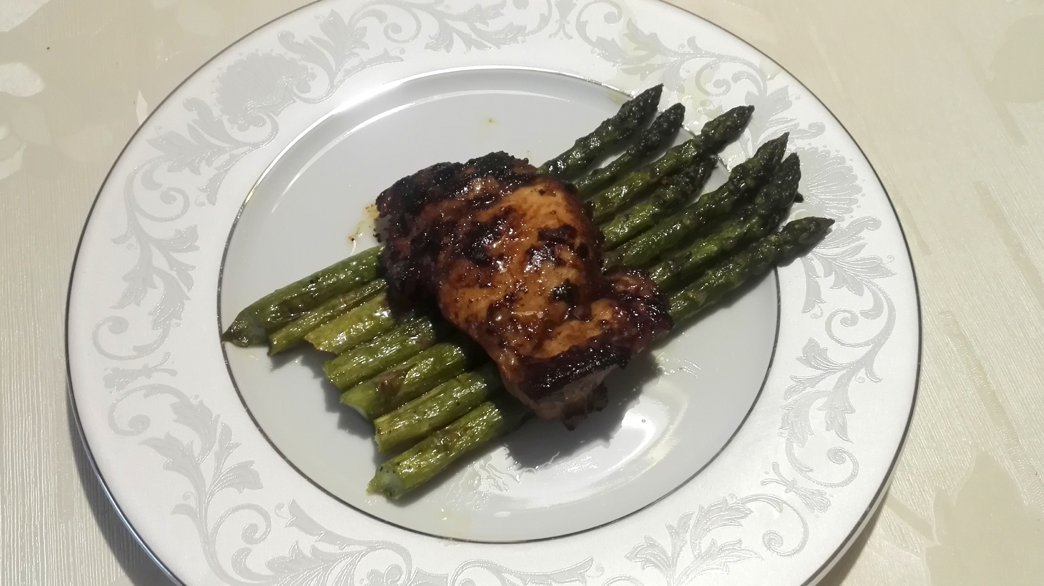 Szparagi z kurczakiem